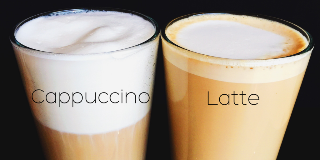 Difference between Cappuccino and Latte