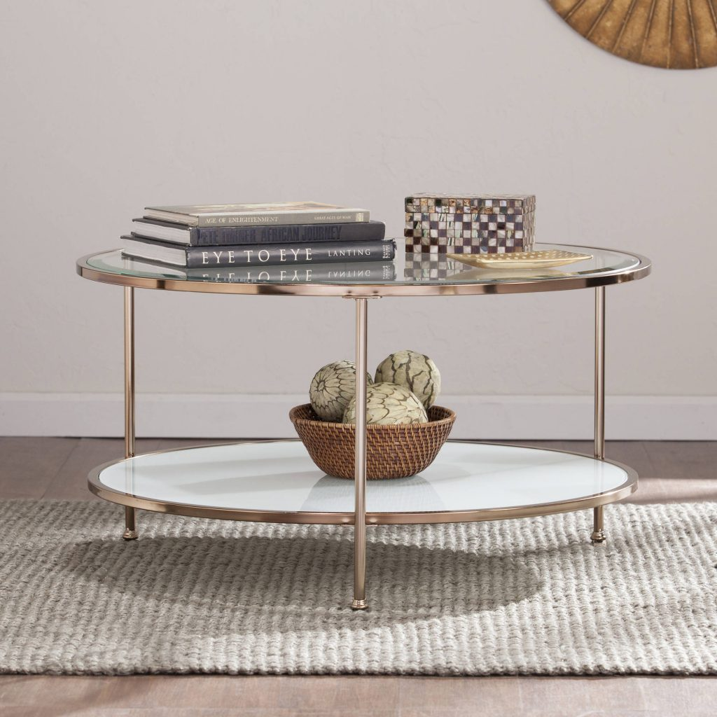 Rambix Glam Round Coffee Table